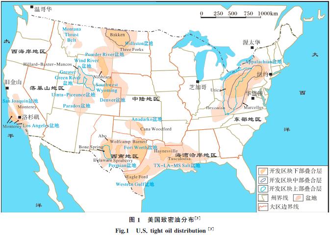 中美致密油成藏条件、分布特征和开发现状对比与启示第1张-暗潮天空 BlueSky